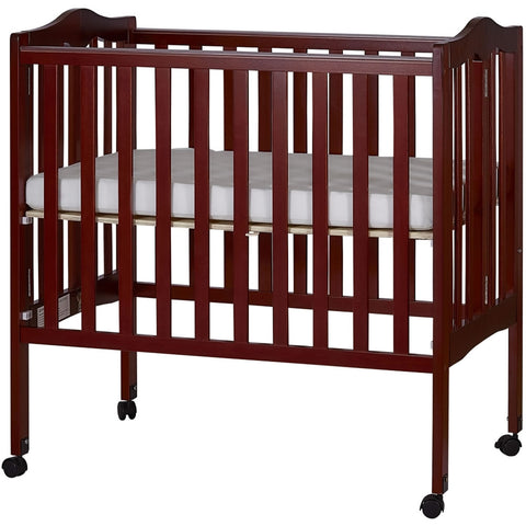 Dream On Me 2 in 1 Lightweight Folding Portable Crib - Cherry Finish - 681C