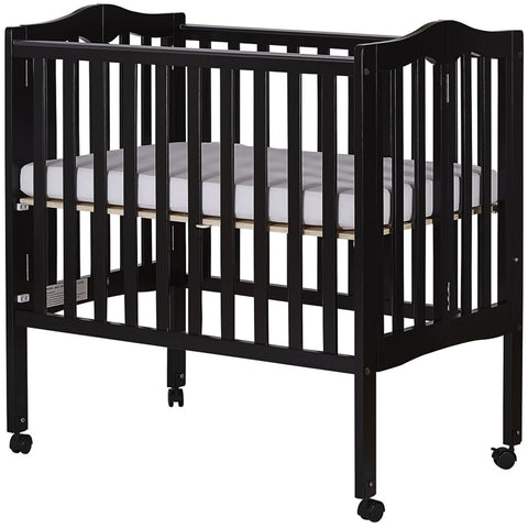 Dream On Me 2 in 1 Lightweight Folding Portable Crib - Black