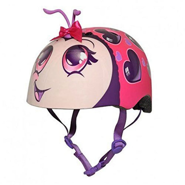 Raskullz Kids Bike Helmet - Pink Love Bug