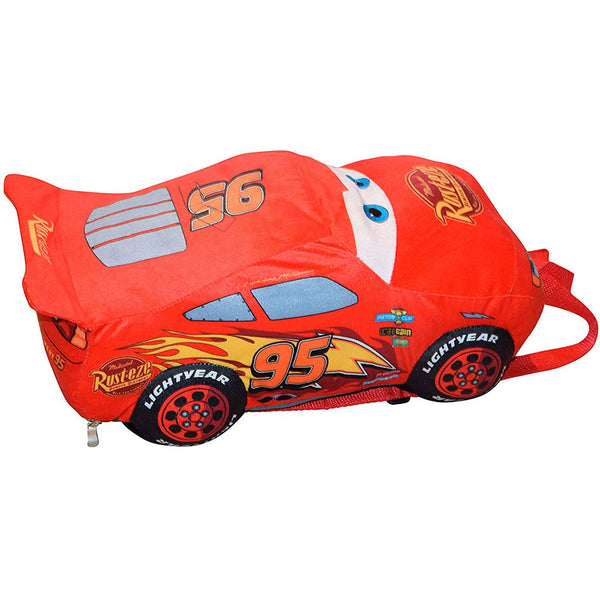 "Disney Cars Plush Backpack 15"", Red"