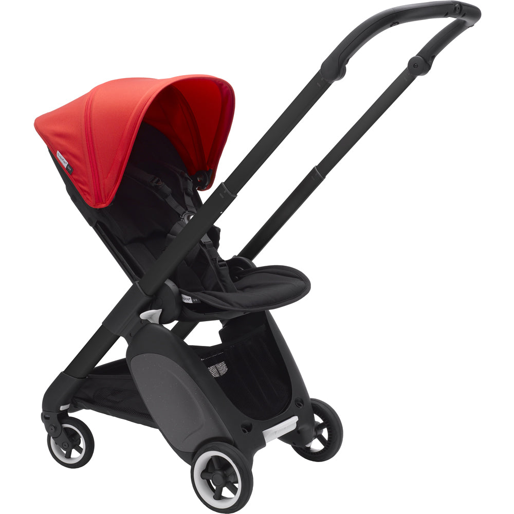 Bugaboo Ant Black Stroller Complete - Neon Red