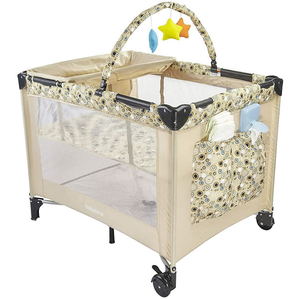 Big Oshi Deluxe Playard with Changing Station, Beige