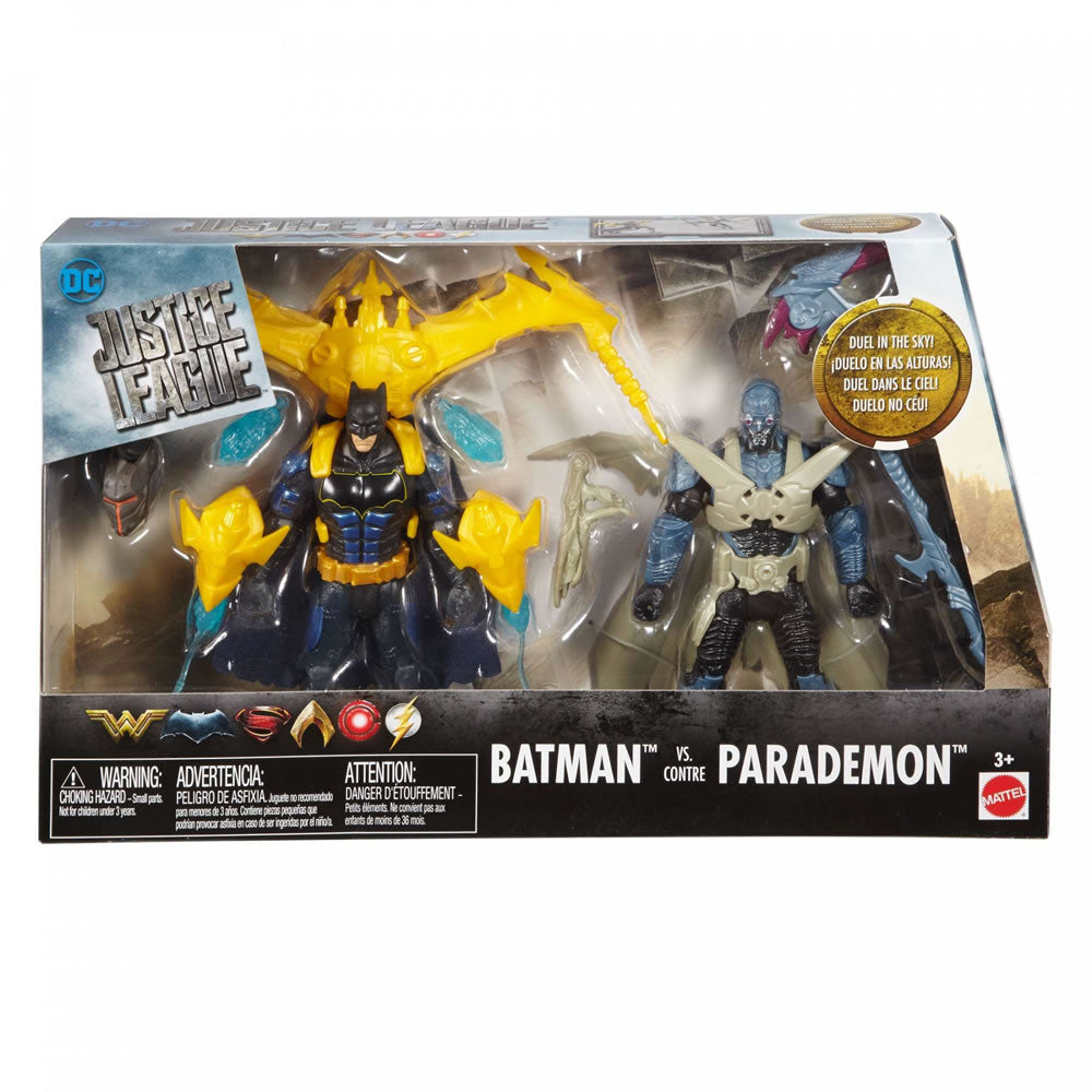 JUSTICE LEAGUE BATMAN VS PARADEMON 6/' ACTION FIGURES  DUEL IN THE SKY NEW