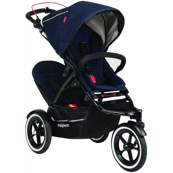 phil&teds Navigator Buggy with Second Seat - Midnight Blue