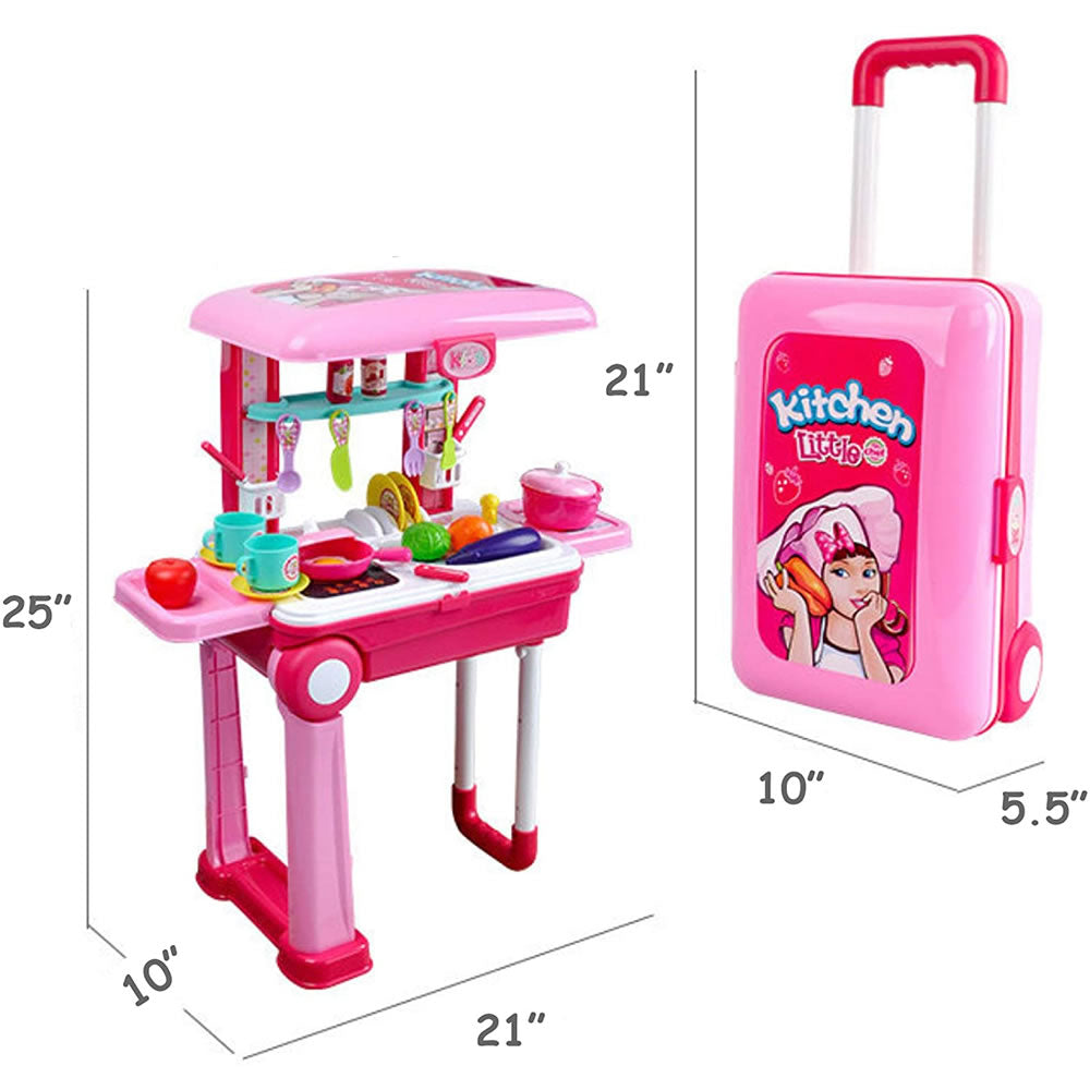 Kididdo Little Chef Kitchen Set Toy Pink Ny Baby Store