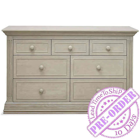 Sorelle Furniture Providence 7-Drawer Double Dresser - Heritage Fog