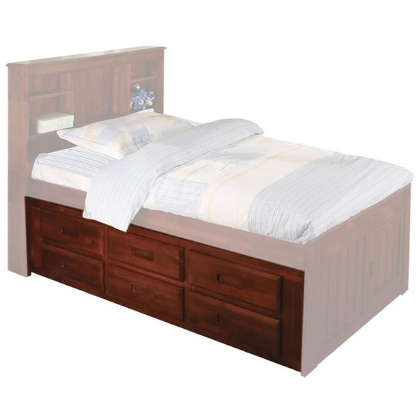 NE Kids - Merlot 6 Drawer Captain's Pedestal