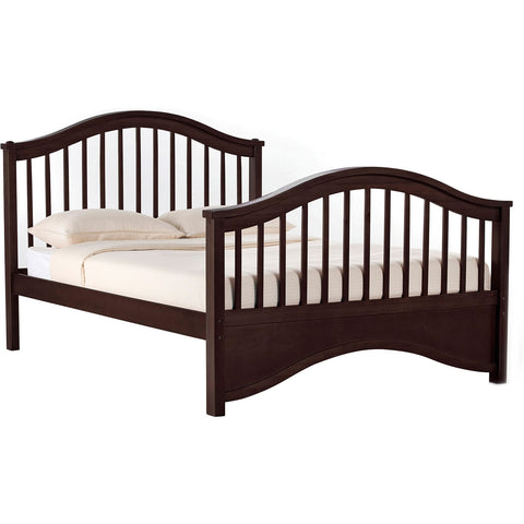 NE Kids Jordan Wood Full Size Bed in Chocolate
