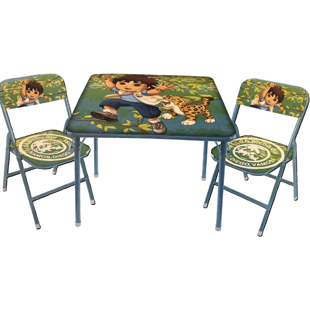 Nickelodeon 3-Piece Table and Chair Set, Go Diego Go