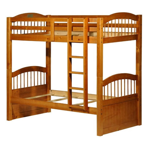 Palace Imports Triplet Twin over Twin Bunk Bed - Honey Finish