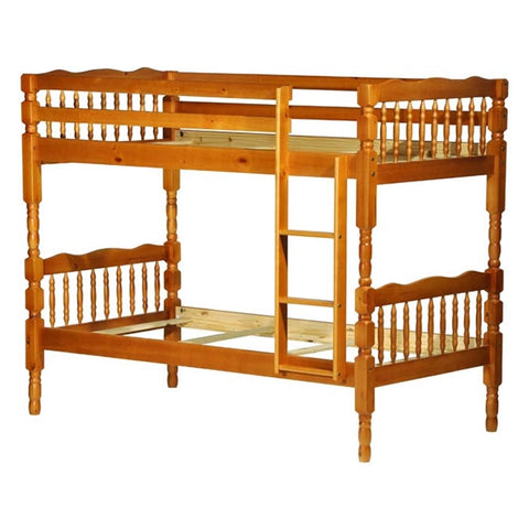 Palace Imports Arlington Twin over Twin Bunk Bed W/8 Slats - Honey Finish