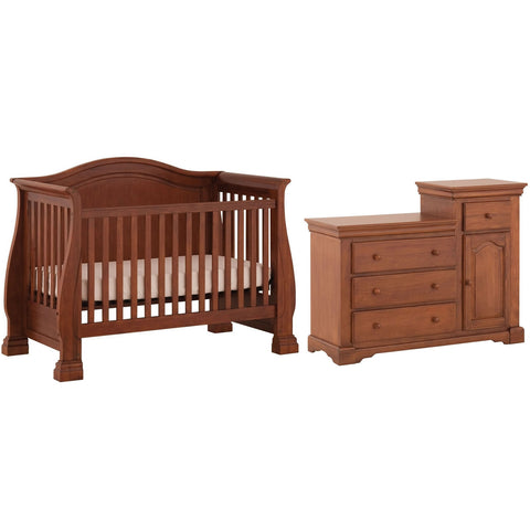 Status Furniture Series 500 Stages Sussex Convertible Crib With Combo Unit, Walnut