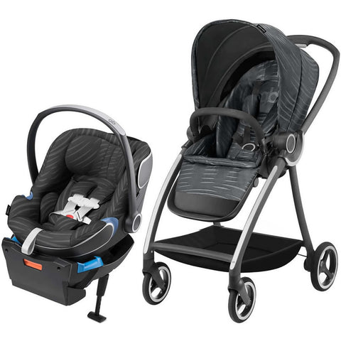 GB Maris Plus Travel System Stroller - Lux Black