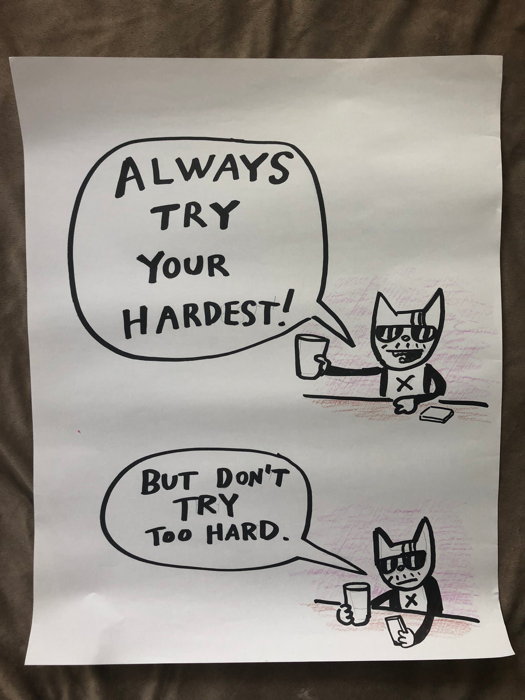 ORIGINAL POSTER - Always Try Your Hardest