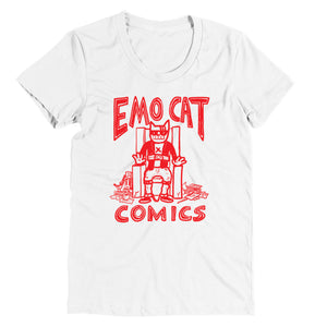 *T-Shirt: Emo Cat Comics - FEMALE