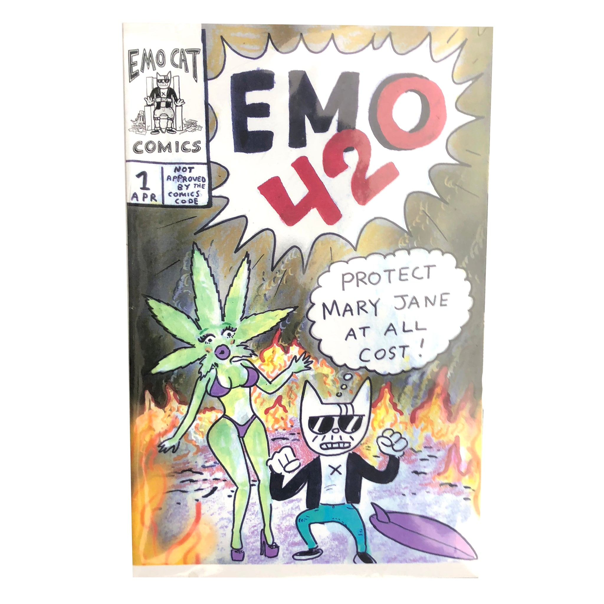 Emo Cat Comic Premiere: EMO 420 – Drew Toonz TV