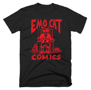 *T-Shirt: Emo Cat Comics
