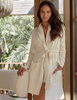 Cozy Chic Lite Heathered Short Ribbed Robe