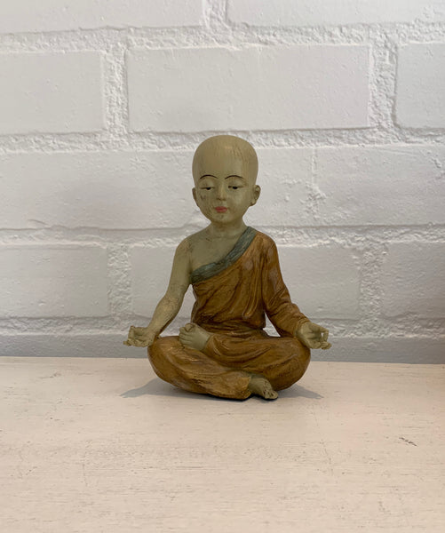 "8"" Yoga Little Monk Statue"