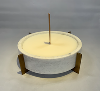 Marble Bowl with Antique Base and Cashmere scent Candle