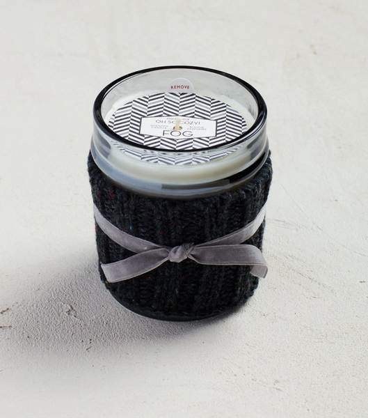 Fog 10 ounce Cozy Candle with Sweater Sleeve