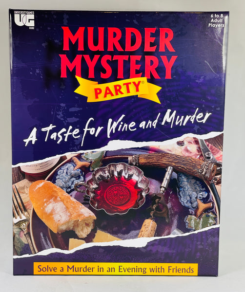 Murder Mystery Adult Party Game | A Taste for Wine and Murder