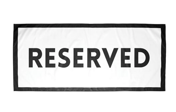 Quick Dry Oversized Beach Towel - Reserved
