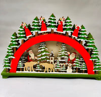 LED Wooden Santa's Village