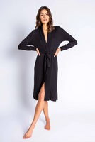 Textured Robe Black