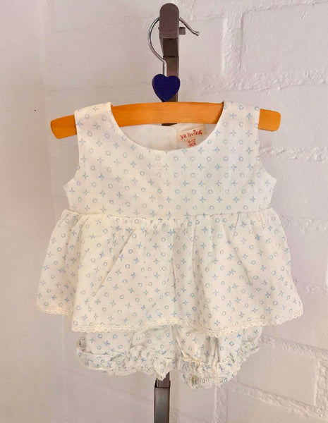 "2-Piece Baby Girl Clothes ""Light Blue Design"""