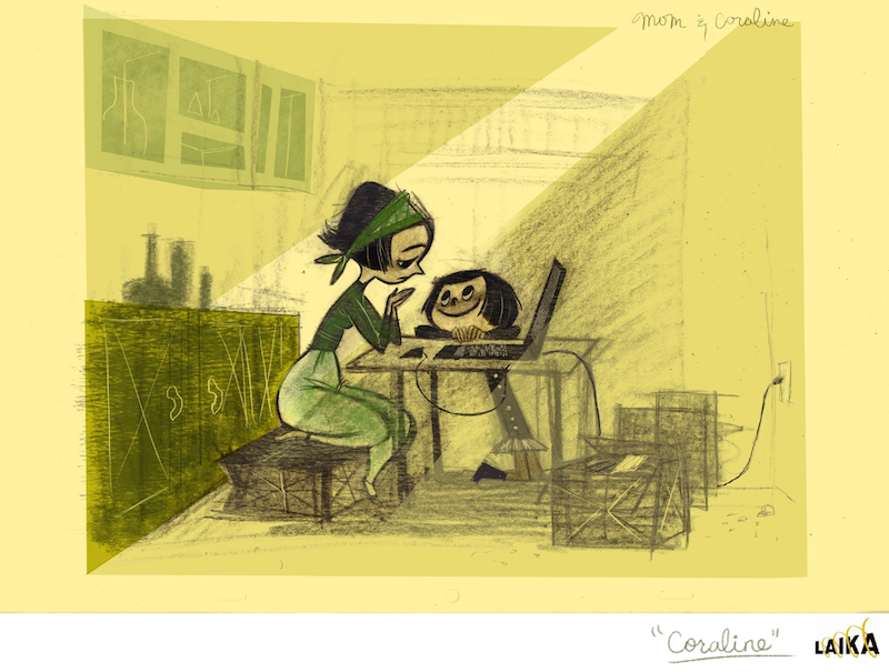 Coraline Visual Development Illustration by Steph Choi