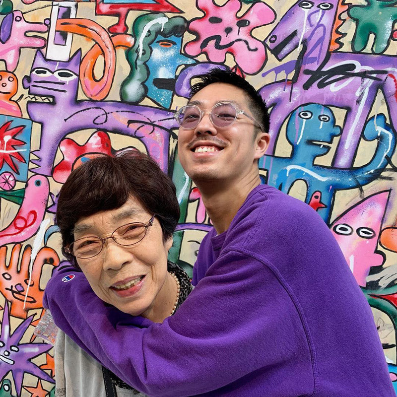 Kentaro Okawara and his grandmother.