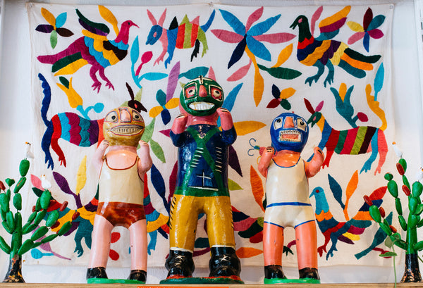 We have ceramic folk art from Mexico.
