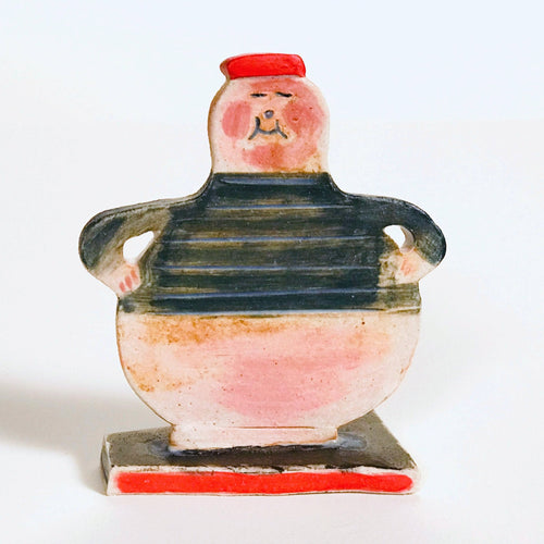 cute ceramic sculpture of a sailor