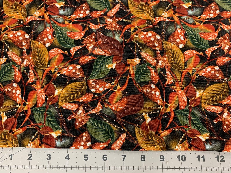 "Timeless Treasures ""Leaf"" JN - C3701 Fabric by the Yard 100% cotton print"