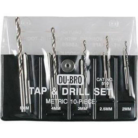 10-pc Metric Tap & Drill Set