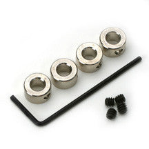 "5/32""/4mm NICKEL PLATED DURA-COLLARS (Qty 12)"
