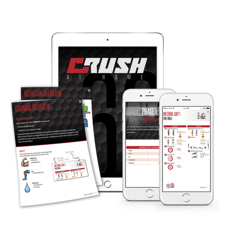 Crush at Home workout,  crush fitness, crush, workout guide