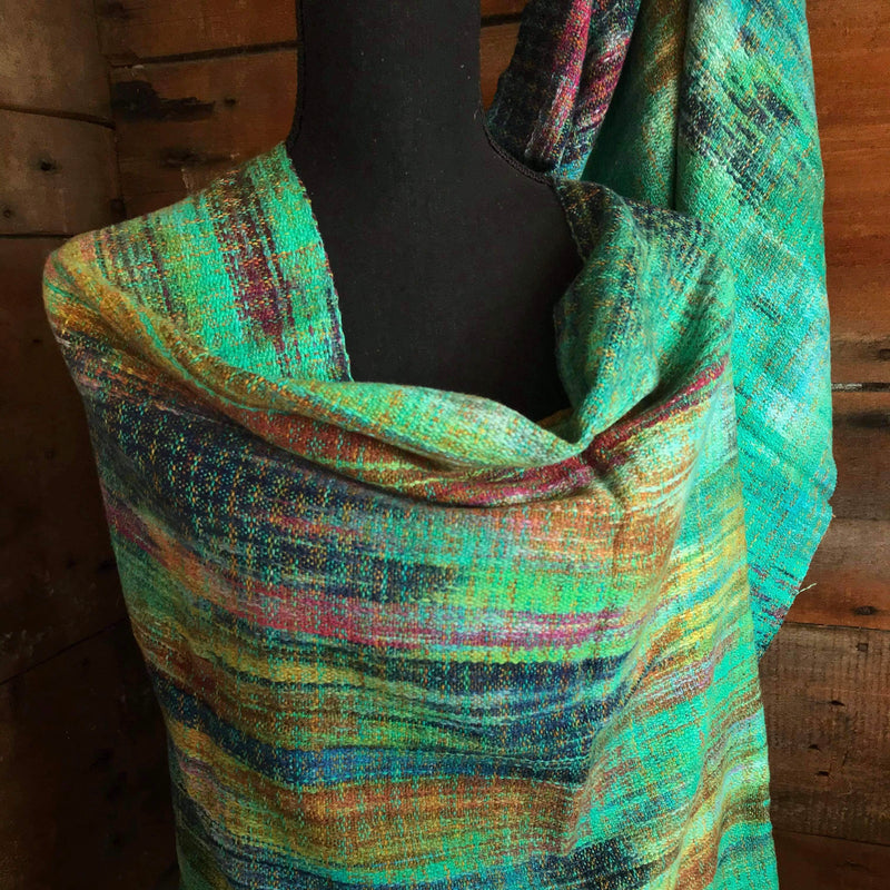 Handwoven Fabric - Green Grass Handwovens