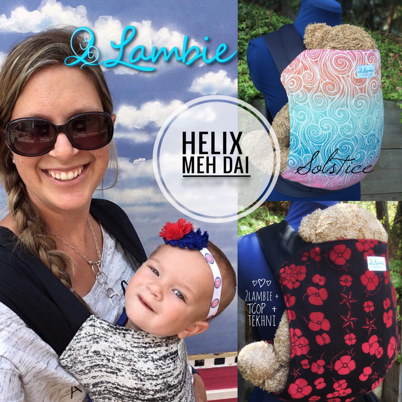2Lambie Helix Meh Dai Meh Tai Baby Carrier