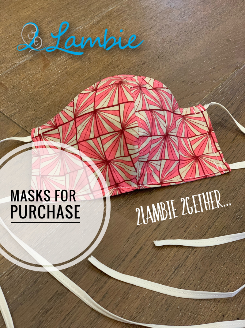 2Lambie 2Gether Face Masks - Back To School (Pre Order - Aug)
