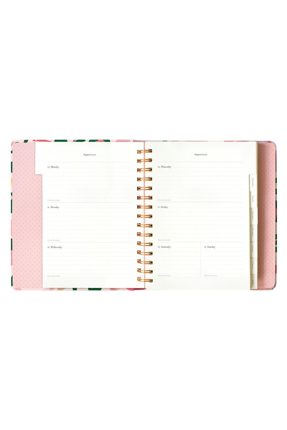 Champagne Allsorts Weekly Planner 2020