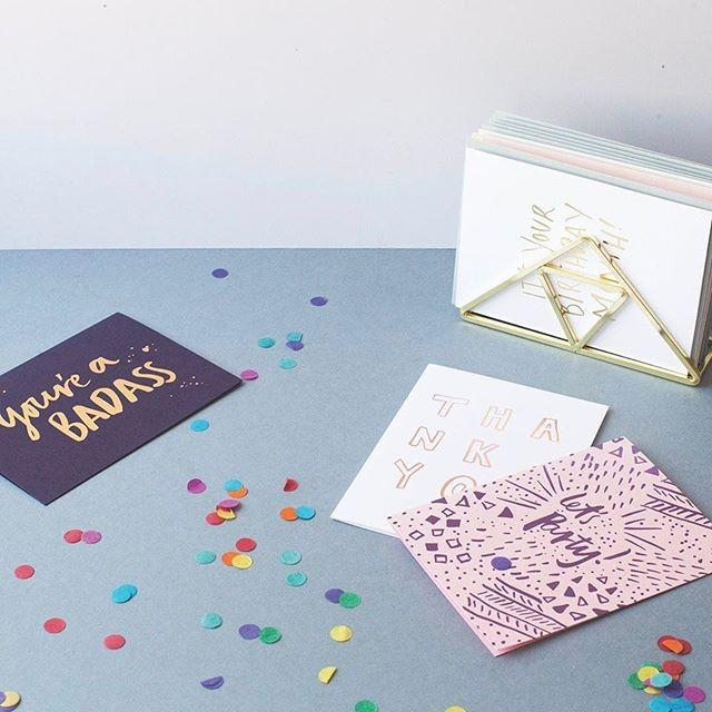 Let's Party foiled greeting card | Blushing Confetti