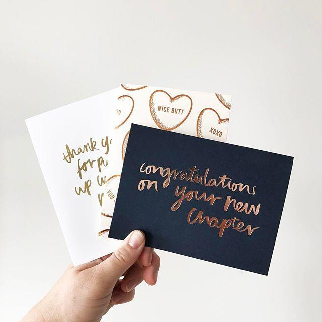 New Chapter foiled greeting card | Blushing Confetti