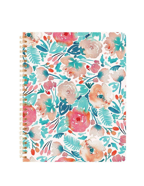 Fresh Floral Spiral Notebook