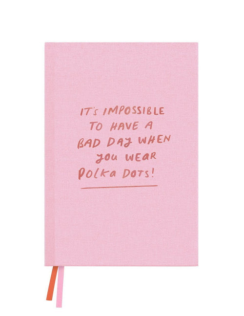 Blush Impossible Polka Linen Notebook