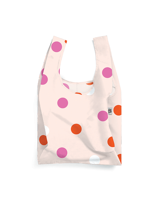 Polka Face Reusable Eco Shopping Bag