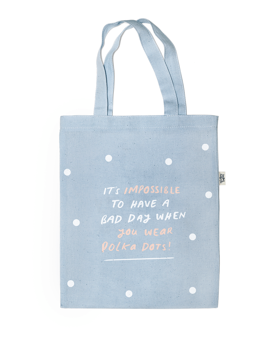 Impossible Polka Chambray Tote
