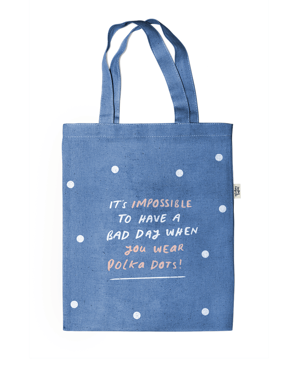 Impossible Polka Denim Tote