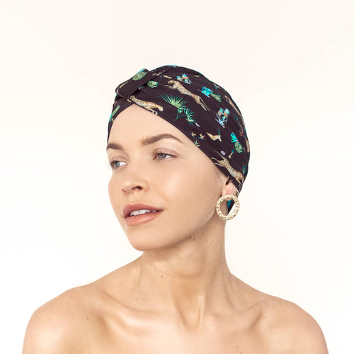 Amelie Shower Cap - Dark Tropics